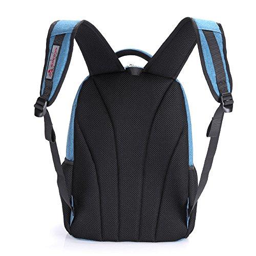 Mocha weir Taikkss Laptop Rucksack Bookbags Kinder Schule College-Reisen Laptop Rucksack (grau01) himmelblau03