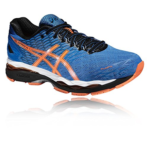 Asics Gel-Nimbus 18, Chaussures de Running Compétition Homme Bleu/Orange