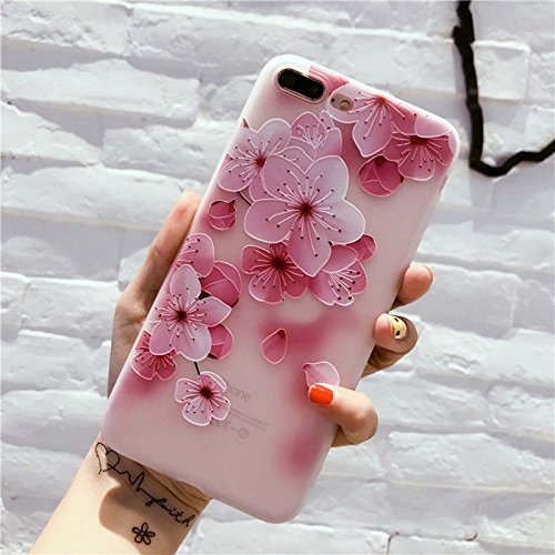 Price comparison product image For IPhone X 8 6 6S 7 Plus Fashion Flower 3D Cute Case Cover Silicone TPU Women (Morning Glory,  iPhone 7)