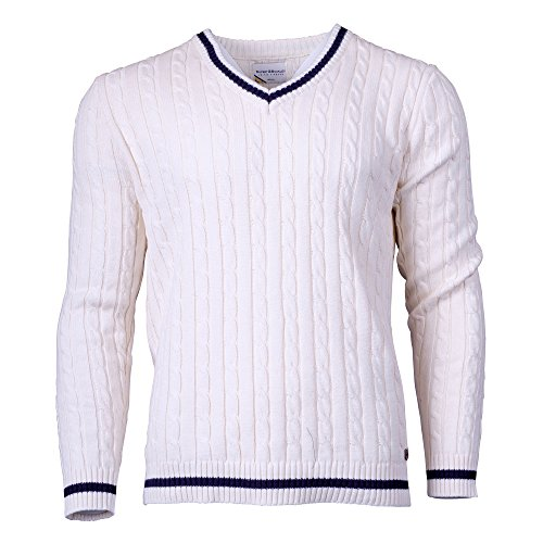 Rupert and Buckley Street Knitted Cricket Jumper Cream