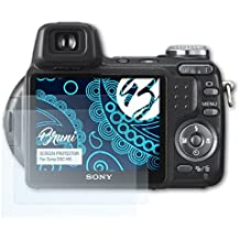 Bruni Sony DSC-H5 Pellicola Proteggi - 2 x cristallino Protezione Pellicola dello Schermo Pellicola Protettiva per Sony DSC-H5