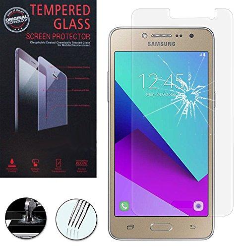 VComp-Shop® Hochwertige gehärtete Panzerglasfolie für Samsung Galaxy Grand Prime Plus/J2 Prime - TRANSPARENT