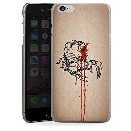 Apple iPhone X Silikon Hülle Case Schutzhülle Skorpion Halloween Gift Hard Case anthrazit-klar