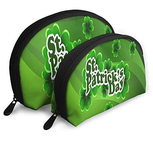 Beutel Reißverschluss Kulturveranstalter Reise Make-up Clutch Bag Happy St. Patricks Day Aufbewahrungsbeutel
