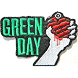 "'aufnaher Green Day metal rock punk Music Band Logo Jacket Camiseta Patch Sew Iron on Embroidered Badge Sign costum Size 4.25 ""width x 3.25height"