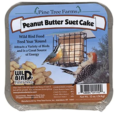 Pine Tree Farms Suet Cake Peanut Butter 12 Ounce - 01110 from Pine Tree Farms