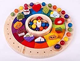 Waldorf-Kalender Holzkreis, Jahreskreis Montessori, Jahreskalender 33 cm mit Figuren