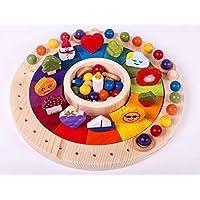 Calendario Waldorf Montessori de 33 cm con figuras que representan los meses. Juego educativo para niños