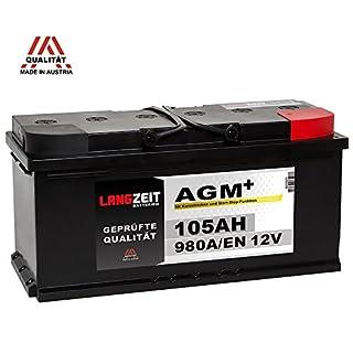 LANGZEIT AGM+ 105Ah 12V 980A/EN Start-Stop Autobatterie VRLA Batterie
