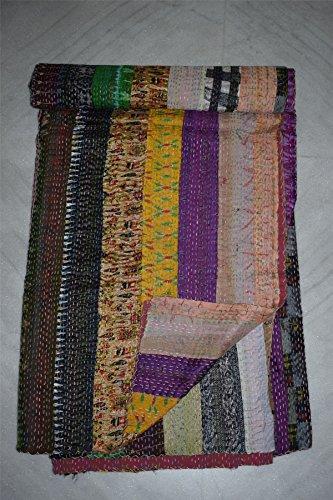 Seide Quilt indischen Ikat patola Kantha Patchwork Decke Bett, Spread (Decke Werfen Patch Quilt)