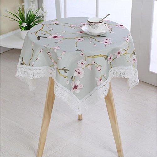 FFJTS Pastoral Rose tischdecke mehrzweck handtuch runde tischdecken nachttisch abdeckung handtuch staubschutz kühlschrank handtuch , 100*100 (Baumwolle Mischung Gewaschen)