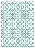 i.stHOME Klebefolie Rauten Elliot grün weiß - Möbelfolie Dekorfolie 45 x 200 cm - Selbstklebefolie bunt - Selbstklebende Folie Vintage