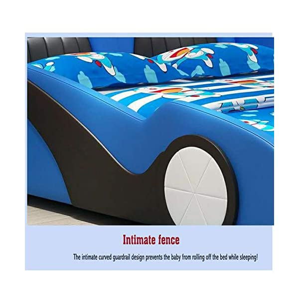 LJ Home Baby Single Bed The Baby Kids Bed Toddler Car Junior Bed With Mattress LJ Home Product certified for low chemical emissions Product certified for reduced environmental impact Suitable for children up to the weight of 100 kg Very quick and easy to put together 2