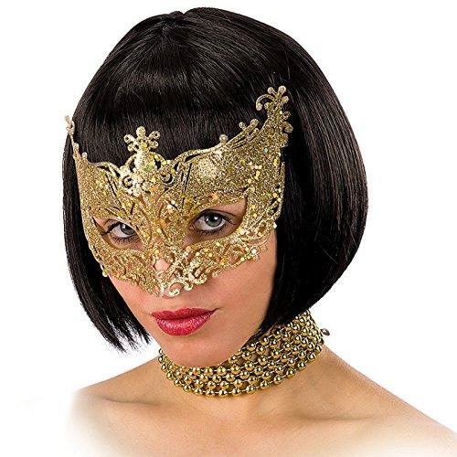 Carnival Toys 1632 - Maske mit Glitter, Kunststoff, Gold