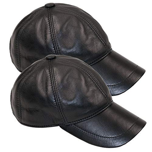 Dazoriginal Leder Baseball Cap Basecap Herren Baseballmütze Baseballkappe Hute 2 MEHRWEG