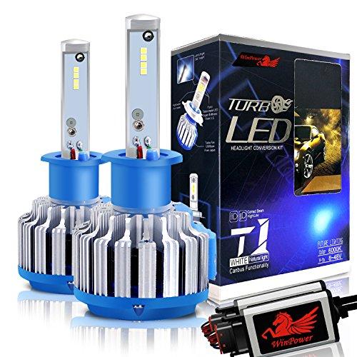 Preisvergleich Produktbild Winpower Cree LED-Scheinwerfer-Lampen,  komplettes Umbauset - H1 -7, 200 Lumen 70 W 6000K Kaltweiß – 2 Stück
