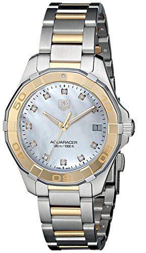 Tag Heuer Aquaracer Women's Diamonds 32mm Quartz Date Watch WAY1351.BD0917