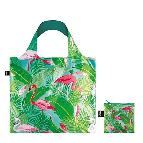 WILD Birds Bag: Gewicht 55 g, Größe 50 x 42 cm, Zip-Etui 11 x 11.5 cm, handle 27 cm, water resistant, made of polyester, OEKO-TEX certified, can carry up to 20 kg Flamimgos