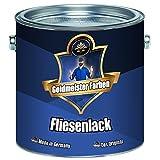 Goldmeister Farben 2 Komponenten Fliesenlack Weiß Grau Schwarz ALLE RAL möglich - glänzend (2,5 kg, Cremeweiß)