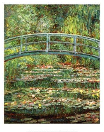 Lámina 'Le Pont Japonais a Giverny', de Claude Monet, Tamaño: 50 x 40 cm