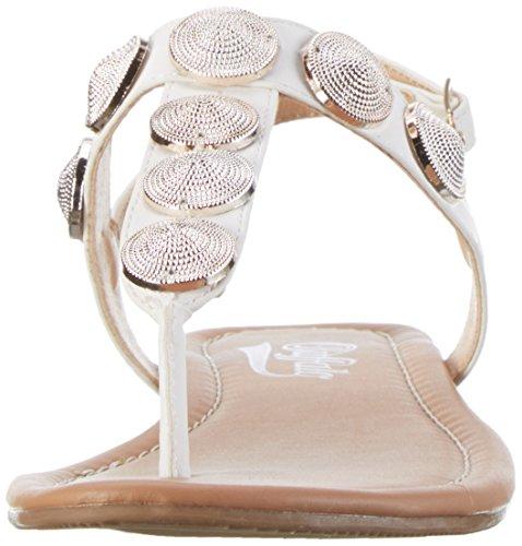 Buffalo Shoes 315102 Gm S10110 Nappa, Sandali a Punta Aperta Donna Bianco (WHITE470)