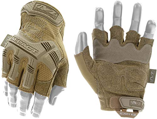 Mechanix Wear - M-Pact Fingerless Coyote Guantes Medio