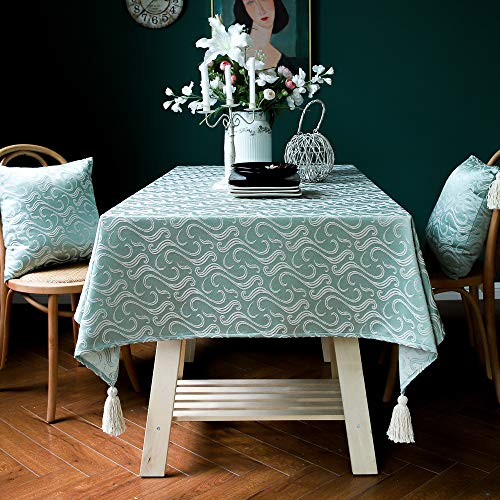 Halloween Rechteckige Tischdecken Jacquard Light Luxury Solid Color Tischdecke Baumwolle Und Leinen Weihnachten Tischdecke Home Decoration Tischdecke,3#-135x220cm