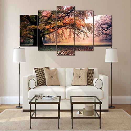 EASTONE Impresiones enLienzoCarteles Arte de la Pared Grupo de árboles de otoño...