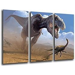Cuadro Buda fotografico base madera, 97 x 62 cm, Dinosaurios, T-Rex ref. 26033