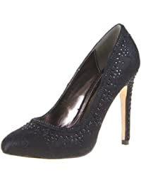 Damen Schuhe Pumps Strass Deko High Heels Ital-Design