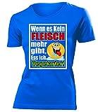 WENN ES KEIN FLEISCH MEHR GIBT,ESS ICH VEGETARIER! 4520 Damen T-Shirt (F-B) Gr. M