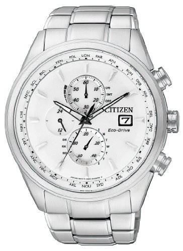 Citizen Herren-Armbanduhr XL Analog Quarz Edelstahl AT8011-55A