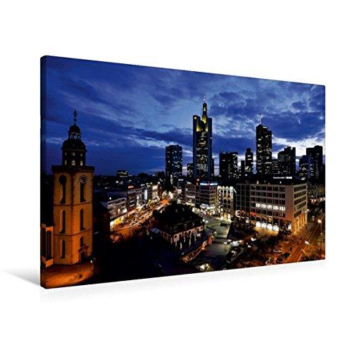 Calvendo Premium Textil-Leinwand 90 cm x 60 cm quer, Frankfurt Hauptwache | Wandbild, Bild auf Keilrahmen, Fertigbild auf echter Leinwand, Leinwanddruck Orte Orte
