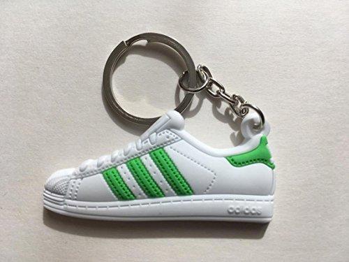Preisvergleich Produktbild Adidas Superstar Schlüsselanhänger Grün Sneaker Keychain Green