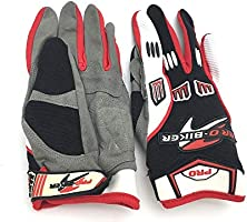 Pro-Biker Motorcycle Full Finger Gloves, Multi Color - C30-1