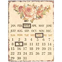 60955 Clayre & Eef - Calendario decorativo - Fiori ca.
