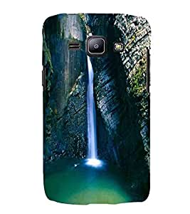 Mountain , Green, Waterfall , River, Printed Designer Back Case Cover for Samsung Galaxy J2 J200G (2015) :: Samsung Galaxy J2 Duos (2015) :: Samsung Galaxy J2 J200F J200Y J200H J200Gu