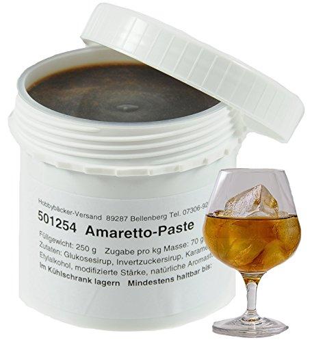Hobbybäcker Amaretto-Paste ► Zum Verfeinern von Eis, Pralinen, Desserts & Tortencremes, leckerer Mandel-Geschmack, 250g