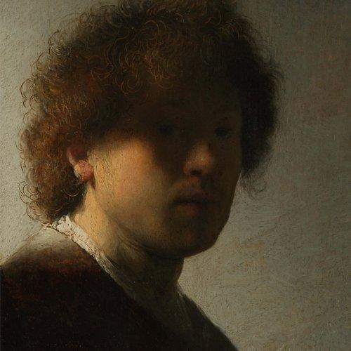 Self-portrait, Rembrandt van Rijn. Blank journal: 150 blank pages, 8,5 x 8,5 inch (21.59 x 21.59 centimeters) Soft cover. (Paper notebook, composition book) (Van Self Portrait Rijn)