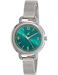 Fastrack Analog Green Dial Girls Watch-6123SM05