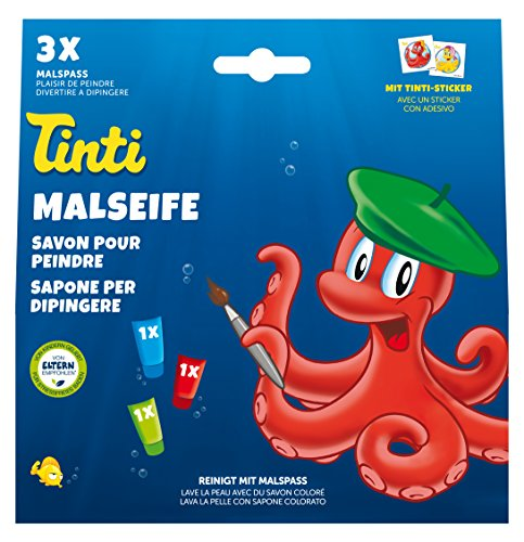 Tinti Malseife 3er Pack (1x grün, 1x rot, 1x blau)