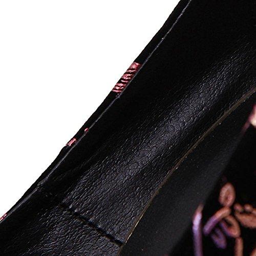 L@YC Pattini Di Vestito Da Ballo Del Fiore Del Locale Notturno Della Tabella Impermeabile Delle alte Tazze Delle Donne Sottili 16cm A