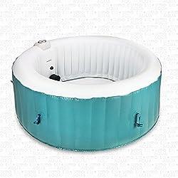 aquaparx Whirlpool AP de 800spa * redondo Diámetro 180cm * pool 4personen Wellness Jacuzzi Spa Whirlpool accesorios 4P Indoor Outdoor Calefacción bañera hinchable