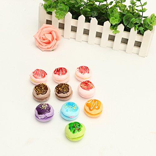 Inovey 10St Neu Simulieren Macaron Kuchen Matschig Spielzeug Stress Abbau Telefon Kette