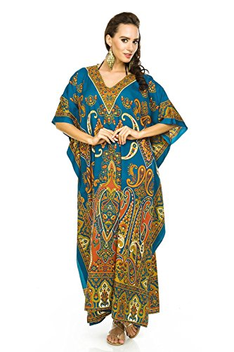 Looking Glam New Ladies Oversized Maxi Kimono Kaftan Tunic Kaftan Dress Free Size