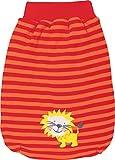 Baby Butt Strampelsack mit Druckmotiv Interlock-Jersey orange Größe 41 cm
