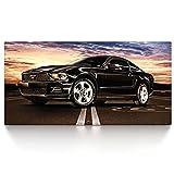 Ford Mustang - Leinwand Bild auf Keilrahmen Wandbild Auto 04.701 (100x50 cm, Einteilig)