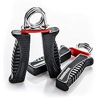 Juego de dos Connect mano Power Grip Exerciser Antebrazo Fuerza Entrenamiento pesado Grip Fitness accesorios (Negro)