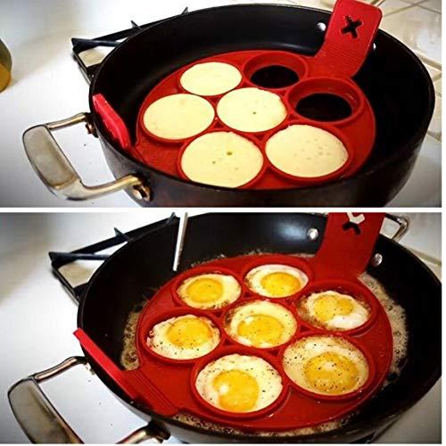 Nonstick Crêpière Silikon-Ei-Ring-Form Runde Pfannkuchen Egg Werkzeuge Breasfast Maker-Küche Gadgets Gadgets Ei