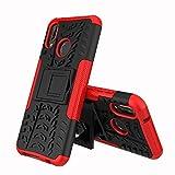 XINYUNEW Funda Huawei P20 Lite/Nova 3E, 360 Grados Protective+Pantalla de Vidrio Templado Caso Carcasa Case Cover Skin móviles telefonía Carcasas Fundas para Huawei P20 Lite/Nova 3E-Rojo